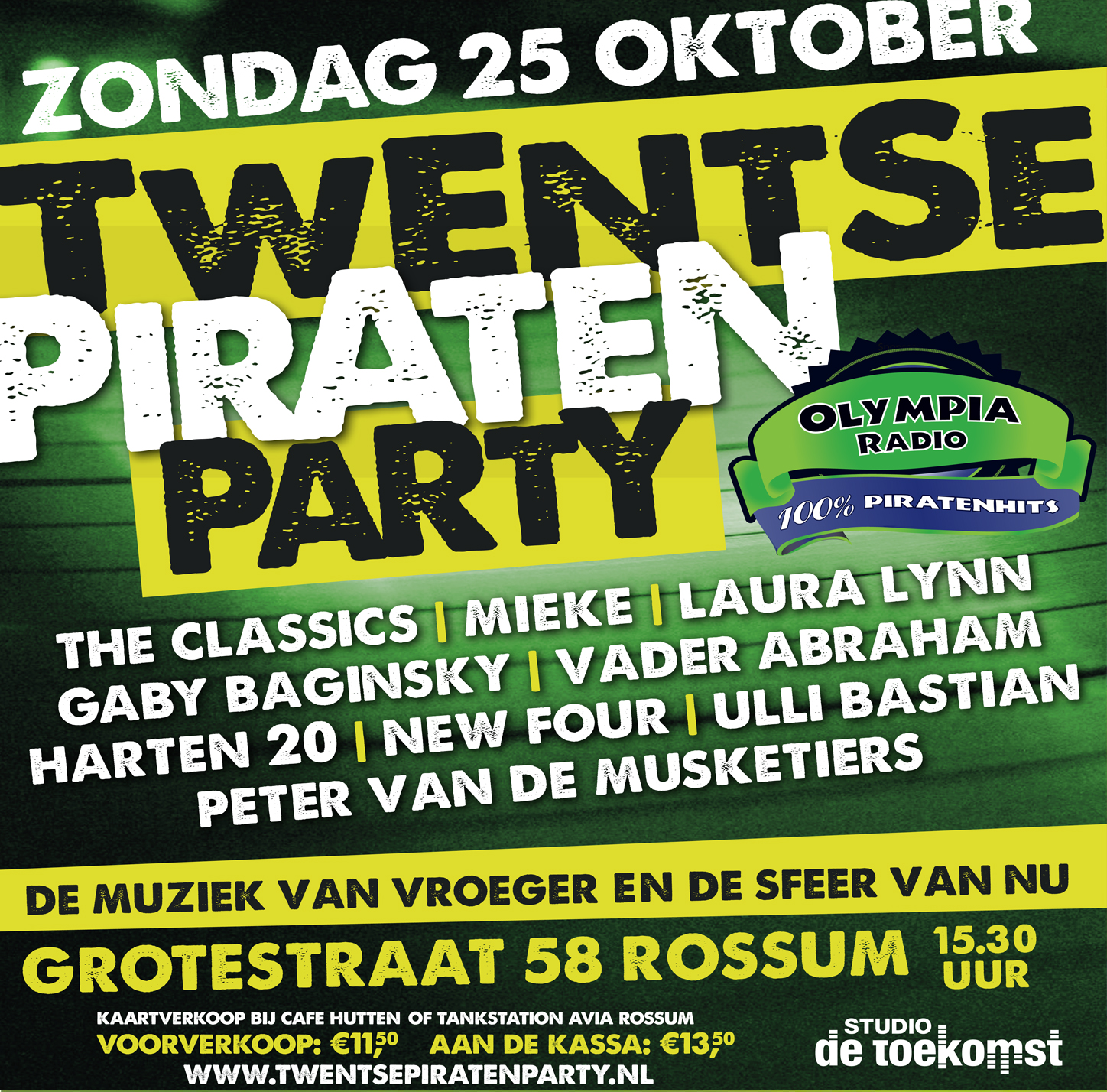 piraten feest in twente waar olympia radio sponsort is twentse piraten party